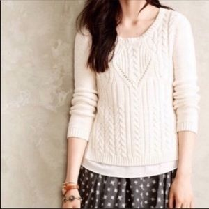 Anthropologie Moth Layered Sweater Size XS